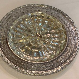 Silver Plated Biscuit ,Cookie Platter with floral